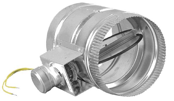 8 electronic damper n o mile hydro Motorized duct damper